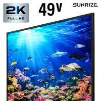 テレビ フルハイビジョン 49型 49インチ TV 送料無料 高画質 液晶テレビ 録画機能付き 外付けHDD録画機能 3波 地デジ BS CS ダブルチューナー 49V型