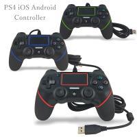 PS4 コントローラー 有線 iOS Android PS4コントローラー 有線コントローラー 互換品 PS4slim Pro 振動機能搭載 PlayStation4 プレステ4 スマホ タブレット 充電
