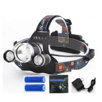 LEDヘッドライト 充電式 超高輝度 12000lm ヘッドライト 角度調節 ストロボ機能付 三眼ライト 充電機 リチウムイオンバッテリー付