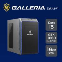 ゲーミングPC デスクトップPC 新品 GALLERIA ガレリア RM5C-G60S 第11世代  Core i5-11400/GTX1660 SUPER/16GBメモリ/512GB SSD 9929-4279