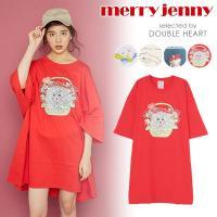 メリージェニー merry jenny 5th Anniversary コラボアイテム ワンピース Tシャツ Tシャツワンピース 7分袖 merryjenny 5周年
