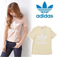 中央にBIGなアディダスのロゴが入った半袖Tシャツ☆ シルエットはタイトめできれい!! 肌触りもやわ...