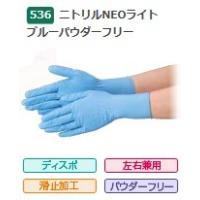 ●食品衛生法適合品●ディスポタイプ・左右兼用・滑止加工付・パウダーフリー●サイズ M●カラー ブルー...