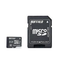BUFFALO UHS-I Class1 microSDカード SD変換アダプター付 32GB RM...