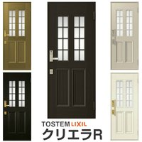 玄関ドア クリエラR 片開きドア 12型ランマ無 ドアクローザー付 LIXIL/TOSTEM アルミ...
