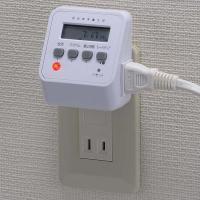 プラグ を差すだけで、簡単接続!  設定時間  がきたら 自動 で 通電。     タイマー で時間...