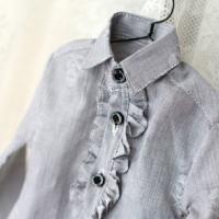 ◆ flounced long-sleeved shirt-D 65cm(SD17)◆ ドール お洋...