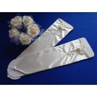 ウエディンググローブ フィンガーレス ロング サテン ビーズ 刺繍 手袋 結婚式 ウエディング ブライダル 披露宴 花嫁 二次会