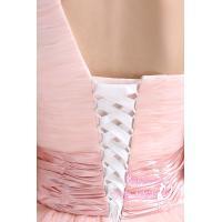 ウエディングドレス カラードレス ロングドレス 結婚式 花嫁 二次会 発表会 パーティー ピンク 編み上げ ワンショルダー フラワーモチーフ