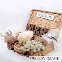 ミニウェルカムトランク カゴ WELCOME ウェルカム トランク 結婚式用 ピクニック バスケット ウェルカムスペース