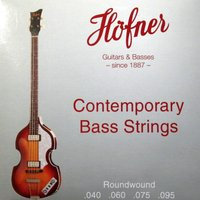 ヘフナー・バイオリンベース専用弦。  ショートスケールのラウンドワウンド弦。へフナーバイオリンベース...