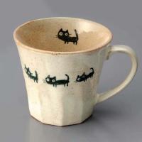 マグカップ おしゃれ/ ネコさんぽ マグ /業務用 家庭用 コーヒー カフェ ギフト プレゼント 贈り物 猫 ねこ