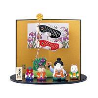 五月人形 コンパクト 陶器 小さい 鯉のぼり/ 錦彩鯉のぼり(桃太郎) /こどもの日 端午の節句 初夏 お祝い 贈り物 プレゼント