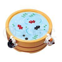 がんばり猫蚊遣器(たらい金魚)【蚊やり・蚊取り線香ホルダー・蚊取り線香入れ】