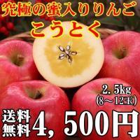 こうとく 約2.5kg(8〜9個) 究極の蜜入りりんご 産地直送 ※一部地域送料無料