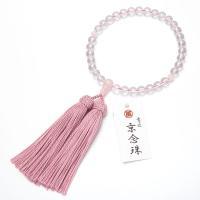 どの宗派でもお使いいただける女性用の略式数珠です。主玉は水晶、親玉、天玉は紅水晶で作りました。紅水晶...