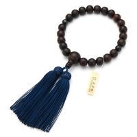 男性用の略式数珠です。宗派を問わずお使いいただけます。主玉と親玉は素挽縞黒檀を、天玉には青虎目石を用...