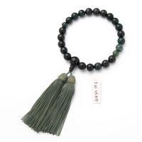 どの宗派でもお使いいただける男性用の略式数珠です。珠は天然の苔瑪瑙で揃えています。房は珠の色に合わせ...