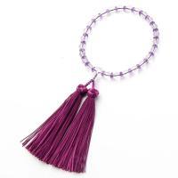 どの宗派でもお使いいただける女性用のお数珠です。主玉・親玉は本水晶で揃えました。主玉と交互に切子カッ...