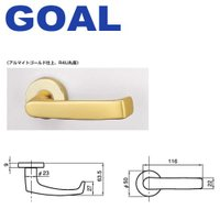 GOAL LYレバーハンドル BU型商品詳細 ◆型番BU R4U ◆材質アルミ ◆バックセット(BS...