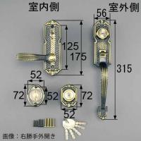 TOSTEM サムラッチ錠 MIWA LE01+TE01TOSTEMの玄関ドア「クリエラ」などに使用...