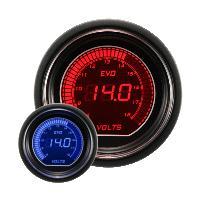 オートゲージ EVOシリーズ 電圧計 52ΦデジタルLCDディスプレィ ブルー/レッド  オートゲー...