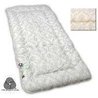 西川 羊毛敷きふとん西川リビング 熊本工場の確かな品質。今お使いの寝具に重ねてご使用になれます。明る...