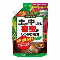 ●そのまま散布して土壌に混ぜるタイプの殺虫剤です。   ●植物の根を食べるコガネムシの幼虫や、ネキリ...