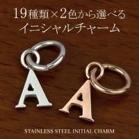 イニシャル チャーム サージカル ステンレス スチール (316L) オリジナル ペア ネックレス にできる アルファベット アクセサリー