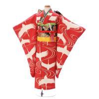 七五三レンタル 女児7才   eきものオリジナルデザインの鶴文様を生地から作りました  レトロな雰囲...