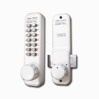 TAIKO デジタルロック 5100HS 防犯サムターン付玄関ドアなどに後付け出来る、ボタン式の暗証...