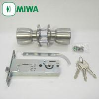 ◆MIWA HBZSP2 握り玉錠 U9シリンダーU9 HBZ-1LS 本締付モノロック室外側側面か...