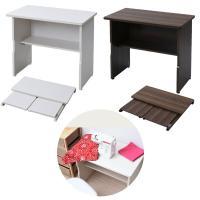 【送料無料】 山善(YAMAZEN)  折りたたみテーブル 木製 棚付き 幅80  MOT-8045...