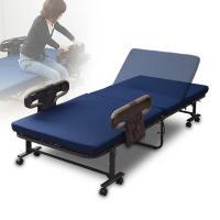 折りたたみベッド高反発 シングルベッド 折り畳みベッド 折りたたみベット リクライニングベッド マットレス付きベッド BAS-1S(WNV)RGK【あすつく】