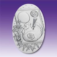 純銀製 小判天地80ミリ・重量65g 造幣局品位検定極印入り 美しいケースに入ります。  一部写真は...