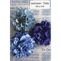 まん丸フォルムで可愛いポンポンダリアのコサージュ♪ 淡いブルーくっきりブルーのブルーライン♪ まとめ...