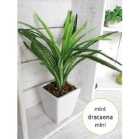 ミニミニドラセナ H22/白鉢  造花 インテリア 観葉植物 光触媒 CT触媒 フェイクグリーン