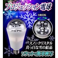 電球ソケットにはめ込むだけで美しいライティングを演出 簡単ミラーボールLED電球スノークリスタル【H...
