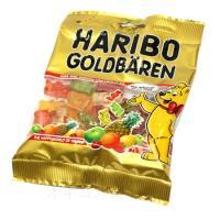グミキャンディで有名なハリボーの6つのフルーツ味が楽しめるゴールドベアです。 クマの形もキュート。 ...