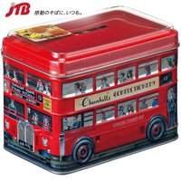 ☆缶は貯金箱としても使える☆ ロンドンバスをデザインした缶の中にクリームトフィーを詰めました。缶は貯...