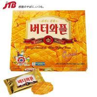 韓国のお土産 香り豊かなバターの風味を大切にしたワッフルクッキーです。  『CROWN(クラウン)』...