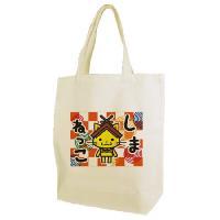 島根県観光キャラクター「しまねっこ」のトートバッグ。 島観連許諾第1487号  素材:綿100%、1...