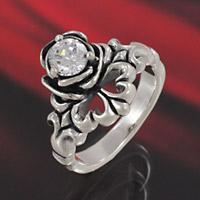 シルバーアクセサリー シルバーアクセ シルバーリング レディース 女性用 指輪 ジルコニア バラ ユリ