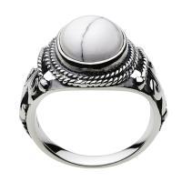 シルバーアクセサリー シルバーリング 指輪メンズ インディアン ホワイトターコイズ ネイティブ シルバー925リング 男性用|e-standard|02