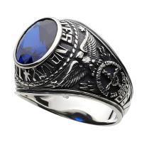 指輪 メンズ カレッジリング 人気 シルバーリング ブルー スピネル シルバー925|e-standard|02