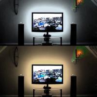 夜、素敵な雰囲気を演出してくれ、テレビが豪華に見えるかも?  USBタイプのLEDのテープライト50...