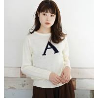 ニット M-LLサイズ 選べるアルファベット6種類!どこか懐かしい レトロな セーター ◆zooti...