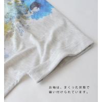 Tシャツ レディース 半袖 夏 カットソー プリント Tee ゆったり ボーダー 薄手 涼しい 花柄 トップス ドルマンスリーブ 大きめ