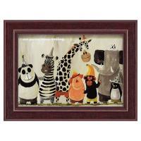 ポップなアニマルアート!  その場がパッと明るくなる動物たちのアートフレーム。 卓上・壁掛両用なので...