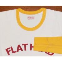 THLD-005-ホワイトオレンジ-TWO TONE THERMAL-FLAT HEAD-THLD005-FLATHEAD-フラットヘッドサーマルTシャツ-ショルダーパッドサーマル-SHOULDER PAD THERMAL